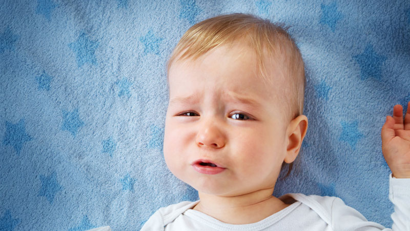 one year old child crying pediatric dental advice